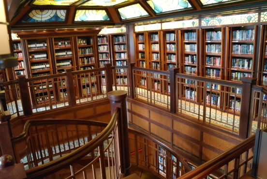 Biblioteket om bord.