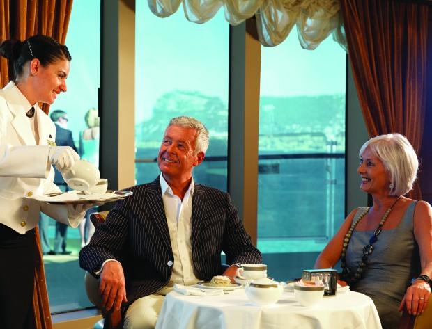 Queen Elizabeth Grills Lounge, Cunard.