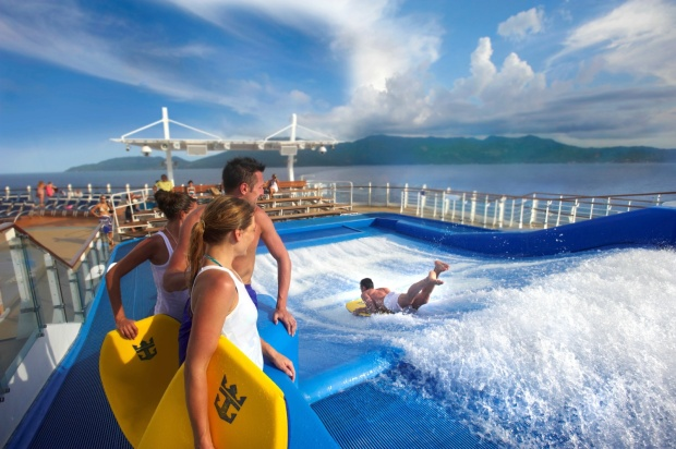 Flowrider Royal Caribbean Oasis of the Seas Allure of the Seas