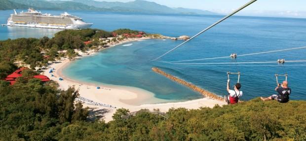 cruise RCCL zip-line Labadee Haiti