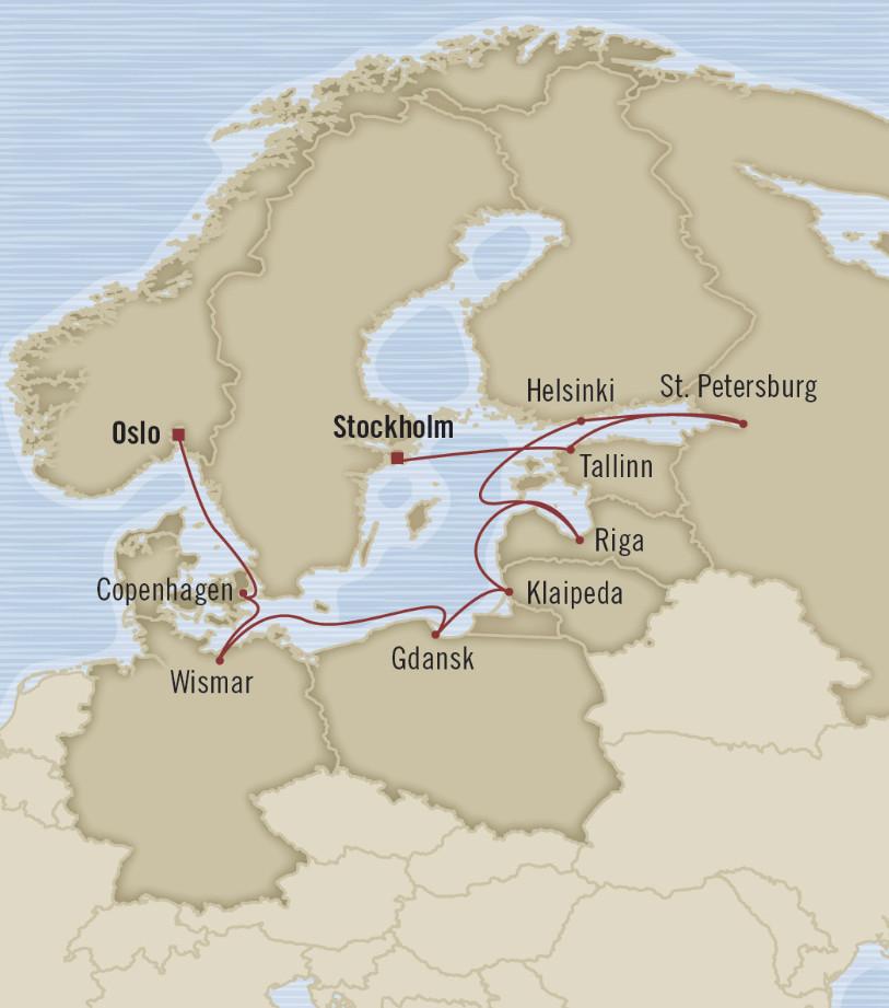 østersjøen kart Cruise i Østersjøen fra Oslo og Bergen – Cruise.no østersjøen kart