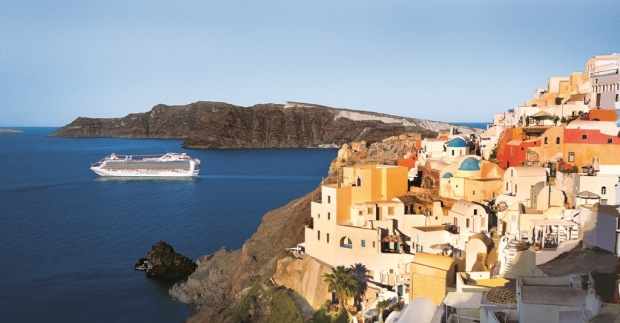 Emerald Princess, Santorini, Hellas