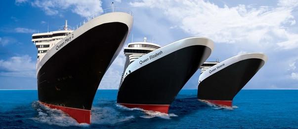 Cunard 3 Queens banner