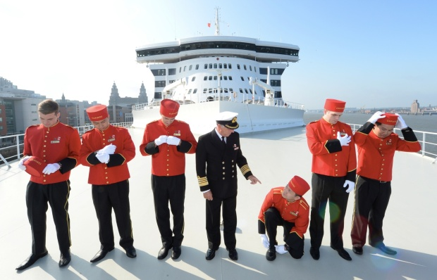 QUEEN MARY 2 DEPARTS LIVERPOOL FOR HALIFAX, CANADA
