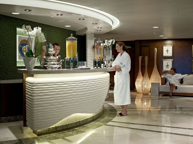 Oceania Cruises spa juice bar woman